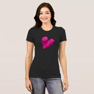 Camiseta Todas as pessoas do t-shirt cor-de-rosa do coração
