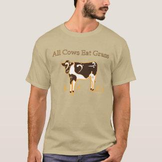 Camiseta Todas as vacas comem o orgulho do Clef baixo da