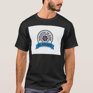 Camiseta todo o logotipo poderoso do deus