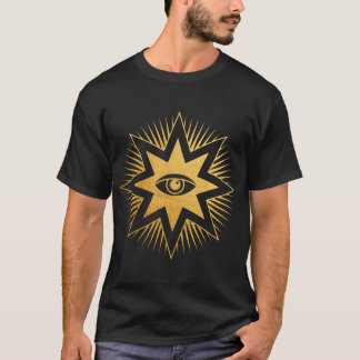 Camiseta Todo o t-shirt de vista do símbolo da maçonaria do
