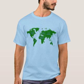 Camiseta Todo o t-shirt do mapa do mundo de América