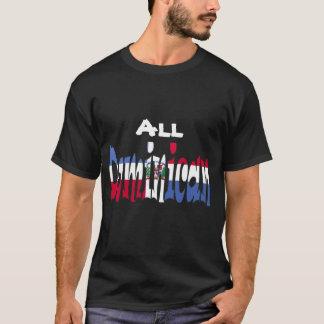 Camiseta Todo o t-shirt dominiquense da bandeira