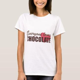 Camiseta Todos ama o chocolate