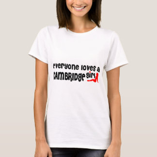 Camiseta Todos ama uma menina de Cambridge