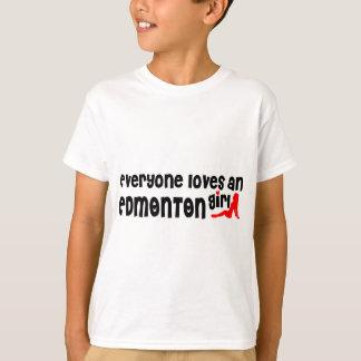 Camiseta Todos ama uma menina de Edmonton