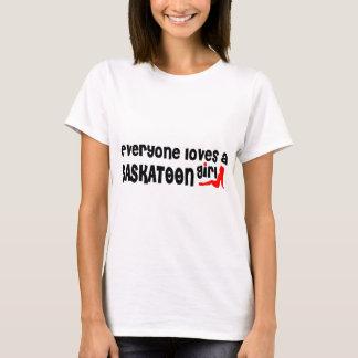 Camiseta Todos ama uma menina de Saskatoon