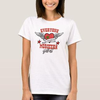 Camiseta Todos ama uma menina marroquina