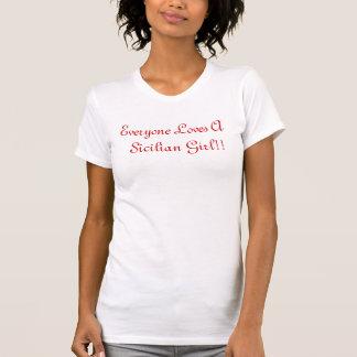 Camiseta Todos ama   uma menina siciliano!!