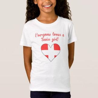 Camiseta Todos ama uma menina suíça