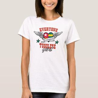 Camiseta Todos ama uma menina togolesa