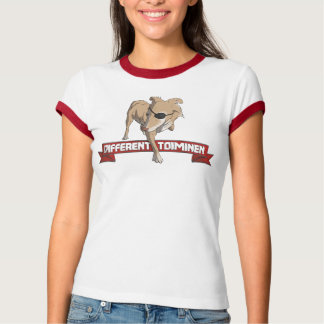 Camiseta Toiminen diferente - listras vermelhas
