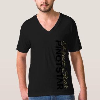 Camiseta Tom da obsidiana de PINOTSTAR no V-pescoço do rolo