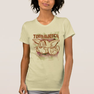Camiseta Tom e Jerry Brown e verde