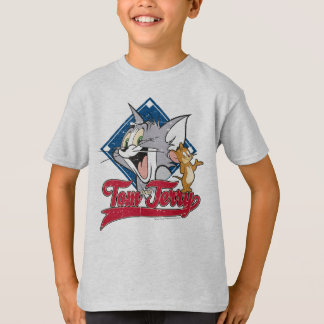 Camiseta Tom e Jerry | Tom e Jerry no diamante de basebol
