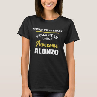 Camiseta Tomado por um ALONZO impressionante. Aniversário