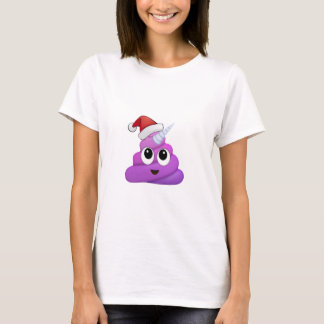 Camiseta Tombadilho Emoji do unicórnio do Natal