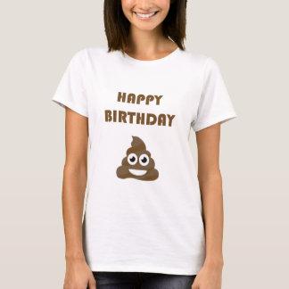 Camiseta Tombadilho feliz bonito engraçado Emoji da festa