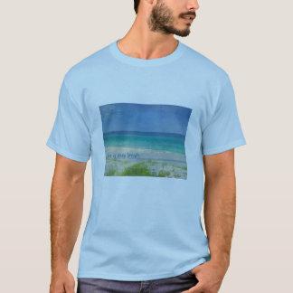 Camiseta Tome um t-shirt do oceano da respiração profunda