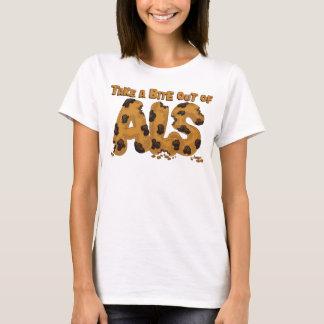 Camiseta Tome uma mordida fora do ALS