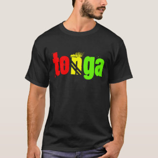 Camiseta Tonga nomeou o T em cores da reggae
