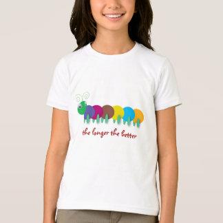 Camiseta Tons de Caterpillar: mais longo o melhor