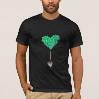 Camiseta Topiary verde do coração