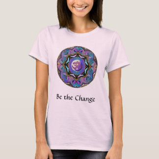 Camiseta Torna-se a mandala da lua do ~ da mudança