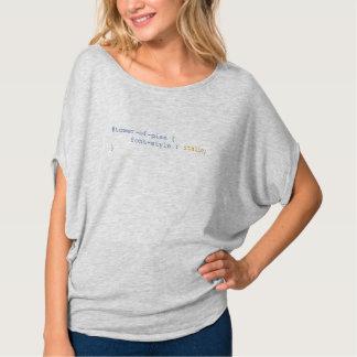 Camiseta Torre de itálicos do estilo de pia batismal de