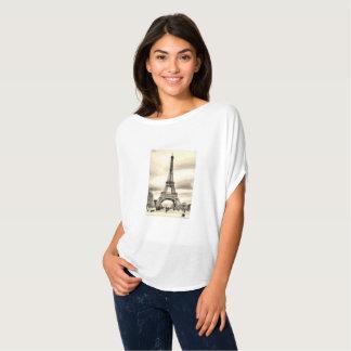 Camiseta Torre Eiffel branca preta France de Paris do