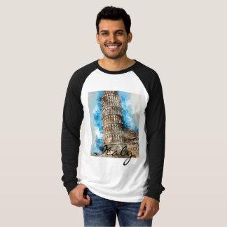 Camiseta Torre inclinada de Pisa em Italia