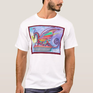 Camiseta Torta da cereja com país das fadas e fada do