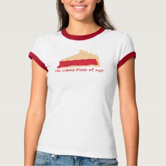 Camiseta Torta da cereja você quer uma parte de mim?