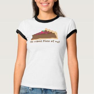 Camiseta torta do chocolate - você quer remendar de mim?