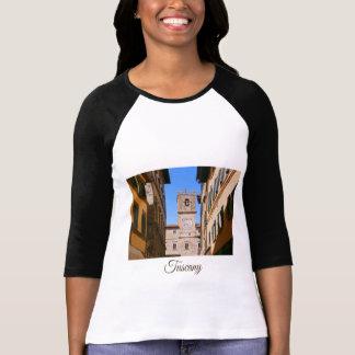 Camiseta Toscânia. Italia. Torre de Cortona