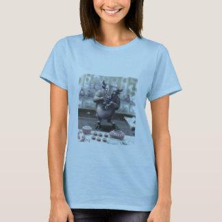 Camiseta touro em uma loja de porcelana