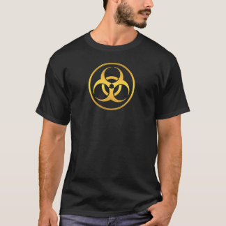 Camiseta Tóxico dourado do Biohazard