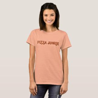 Camiseta Toxicómano engraçado da pizza, t-shirt do gráfico