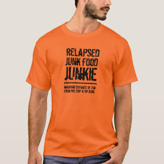 Camiseta Toxicómano Relapsed engraçado da comida lixo
