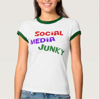Camiseta Toxicómano social dos meios
