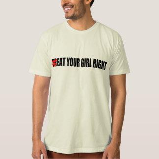 Camiseta (TR) COMA SEU t-shirt do DIREITO da MENINA