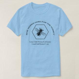 Camiseta Trabalha o duro para o t-shirt do mel