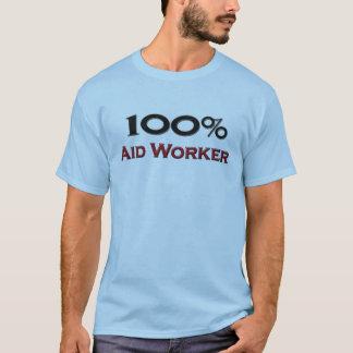 Camiseta Trabalhador de auxílio de 100 por cento
