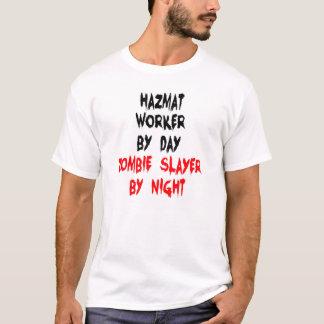 Camiseta Trabalhador de Hazmat do assassino do zombi