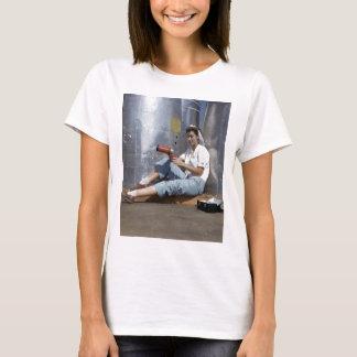 Camiseta Trabalhador de planta 1942 dos aviões da mulher