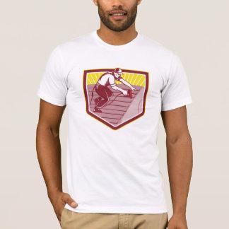 Camiseta Trabalhador de telhado do Roofer retro