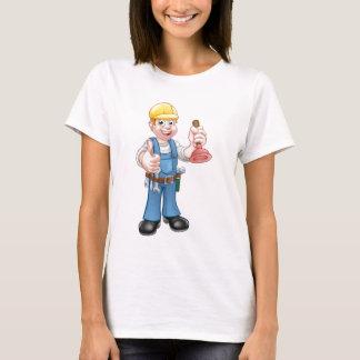 Camiseta Trabalhador manual do canalizador que guardara o