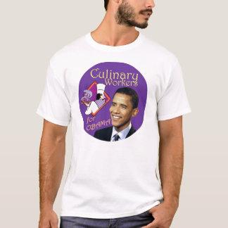 Camiseta Trabalhadores culinários de Barack Obama para