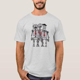Camiseta Trabalhadores do robô em uma foto do grupo