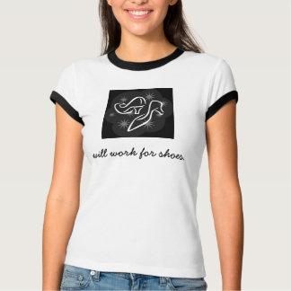 Camiseta trabalhará para o t-shirt dos calçados