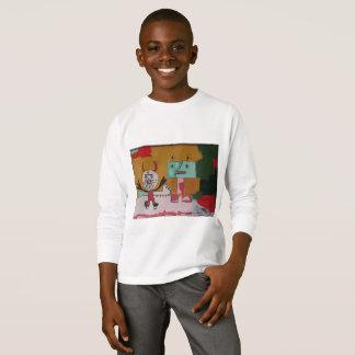 Camiseta Trabalhos artísticos originais felizes dos monstro